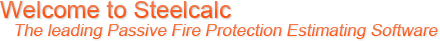 Welcome to Steelcalc - The Leading Passive Fire Protection Estimating Software